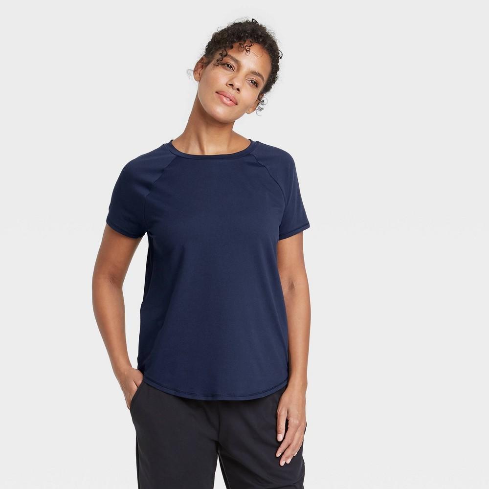 Women 39 S Essential Crewneck Short Sleeve T Shirt All In Motion 8482 Deep Navy S