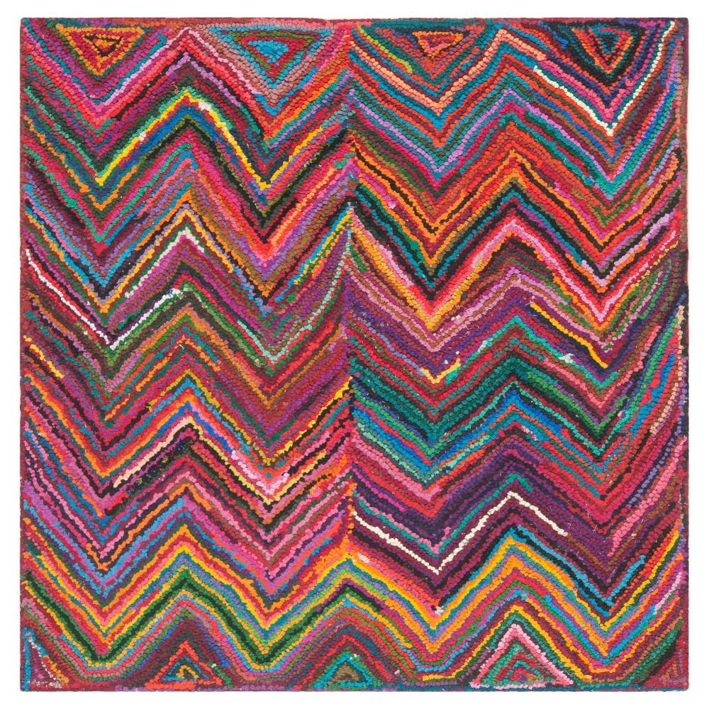 Morgan Area Rug - Pink/Multi (8'x8' Square) - Safavieh, Pink/Multi-Colored