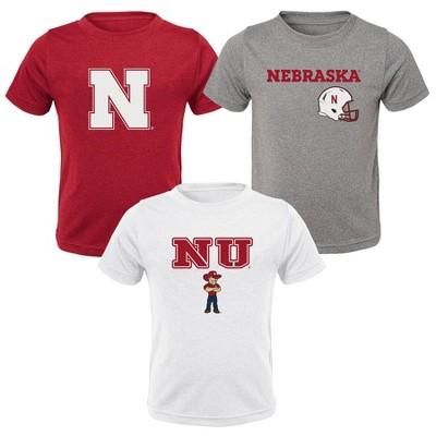 NCAA Nebraska Cornhuskers Toddler Boys' 3pk T-Shirt