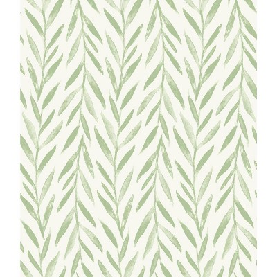 RoomMates Willow Magnolia Home Wallpaper Green