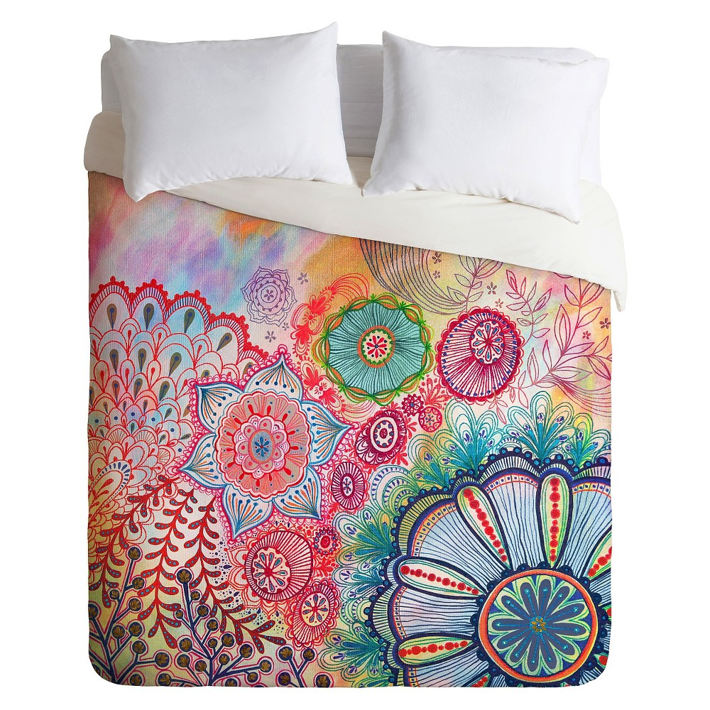 Stephanie Corfee Frolicking Duvet Twin Pink Deny Designs