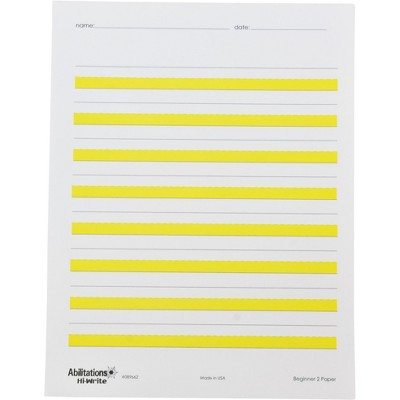 Abilitations Hi-Write Beginner Paper, Level 2, 100 Sheets