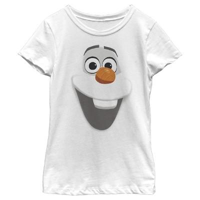 Girl's Frozen Olaf Face T-Shirt