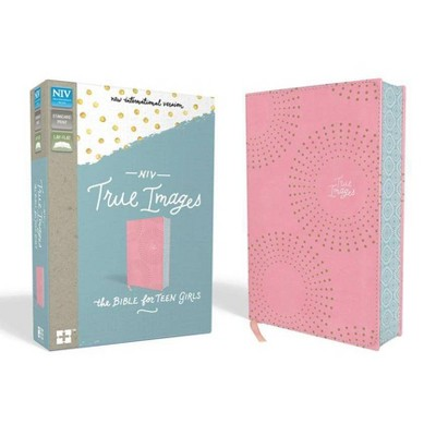 NIV, True Images Bible, Imitation Leather, Pink - by  Zondervan (Leather Bound)