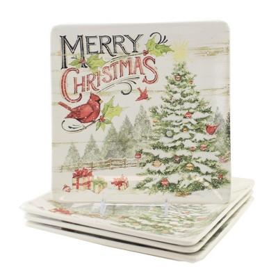 "Tabletop 10.5"" Evergreen Christmas Dinner Plat Cardinal Certified International  -  Dining Plates"