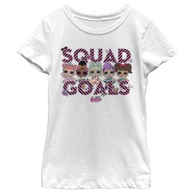 Girl's L.O.L Surprise Squad Goal Stripes T-Shirt