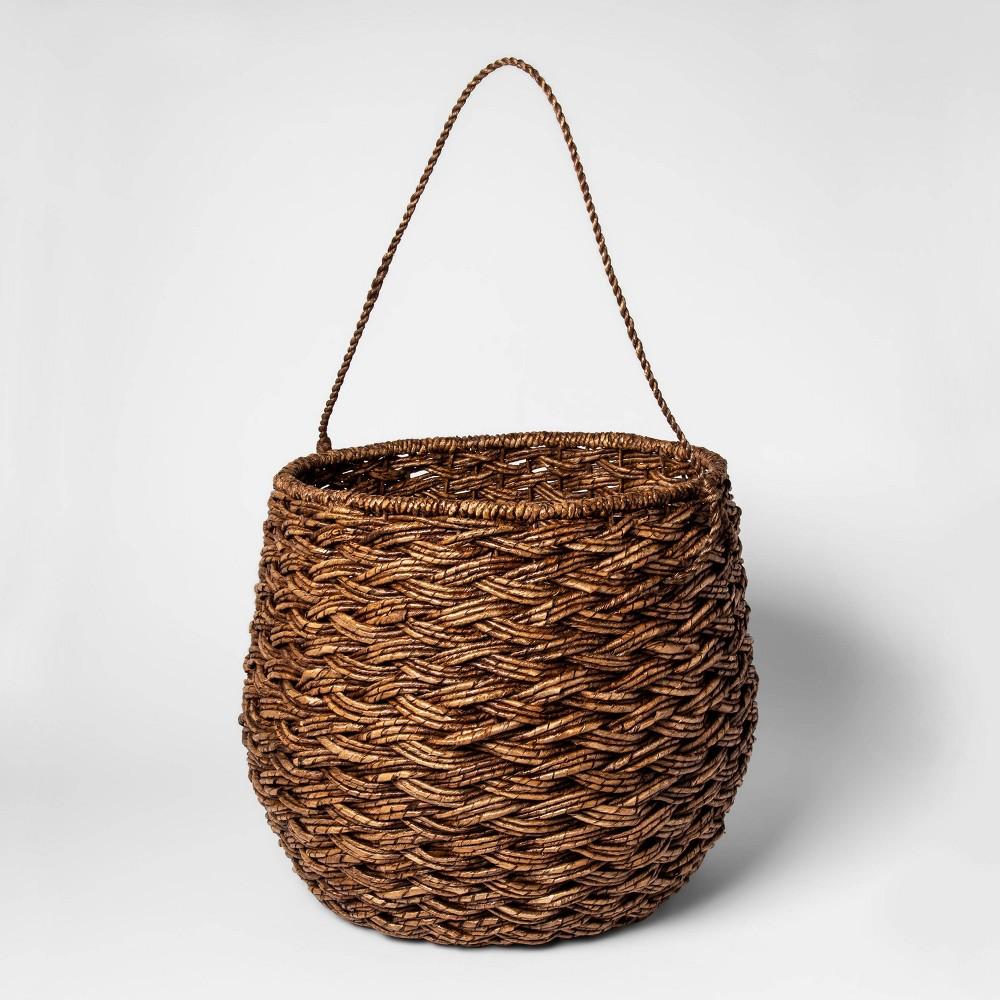 "Image of ""15""""x18"""" Large Round Basket Espresso Brown - Threshold"""