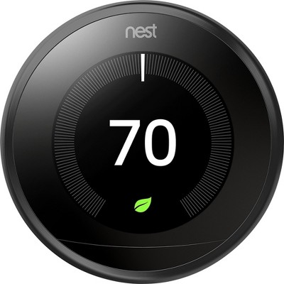 Google Nest Learning Thermostat - Black