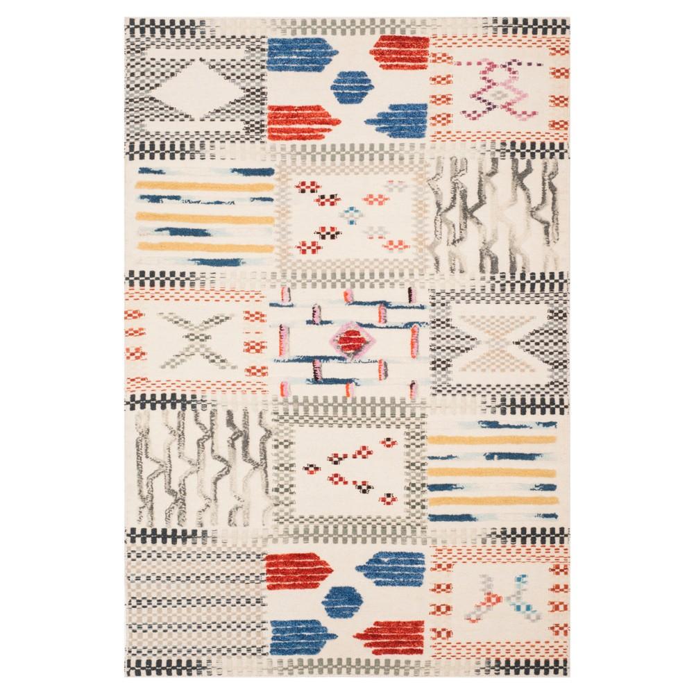 Tribal Design Woven Accent Rug 4'X6' - Safavieh, White