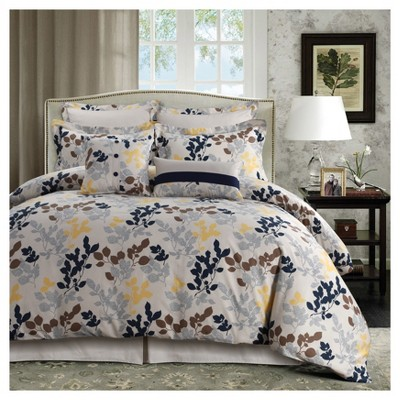 Barcelona 300tc Cotton Percale Printed Oversize Duvet Set 5pc - Tribeca Living®