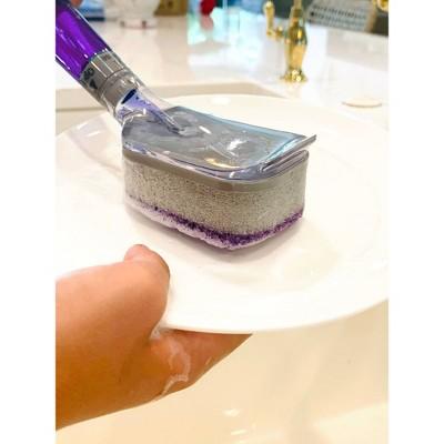 Bright Box Dishwand Scrubber Sponge Replacement Heads - Purple - 2ct