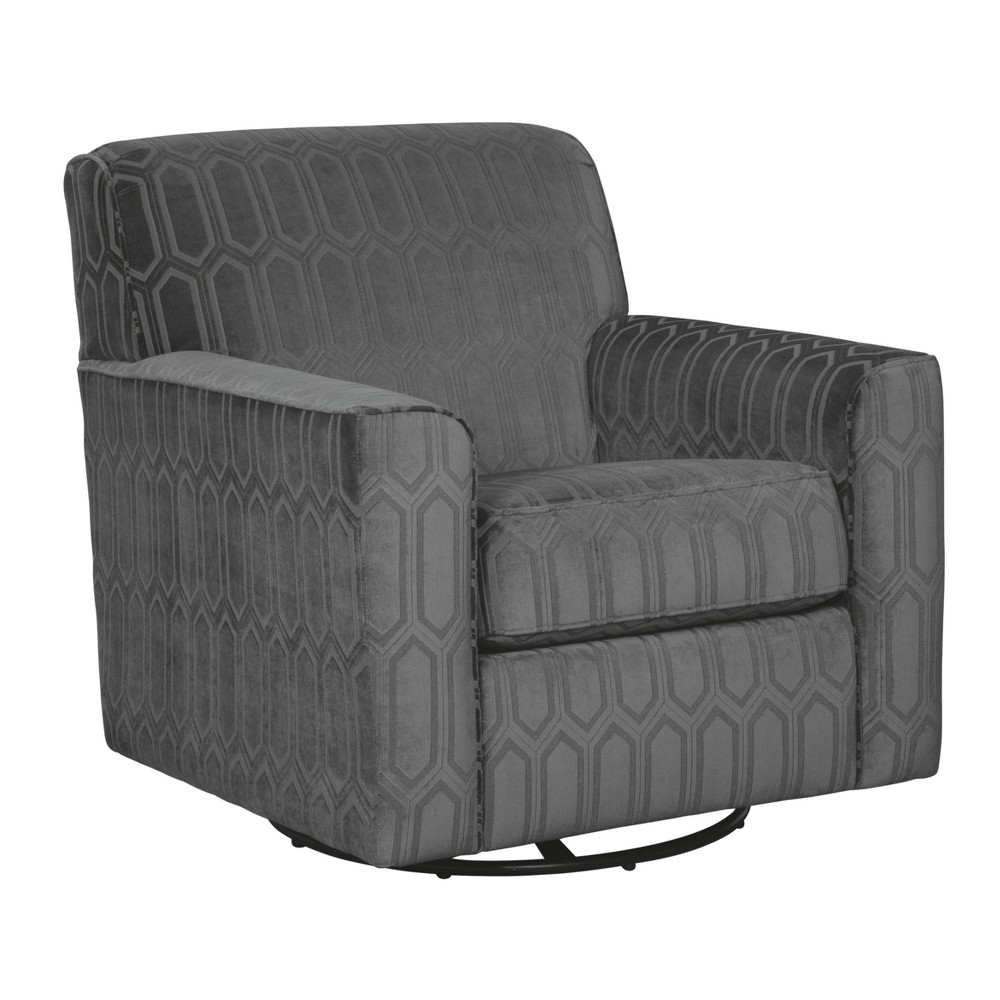 Zarina Swivel Accent Chair Alum Gray - Signature Design by Ashley