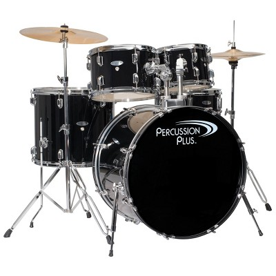 Percussion Plus Drums 5pc Drum Set - Black