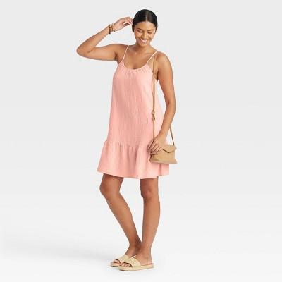 Women's Sleeveless Tiered Gauze Dress - Universal Thread™