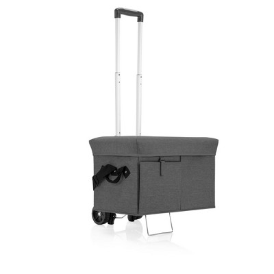 Picnic Time Ottoman 18.5qt Portable Cooler with Trolley - Gray