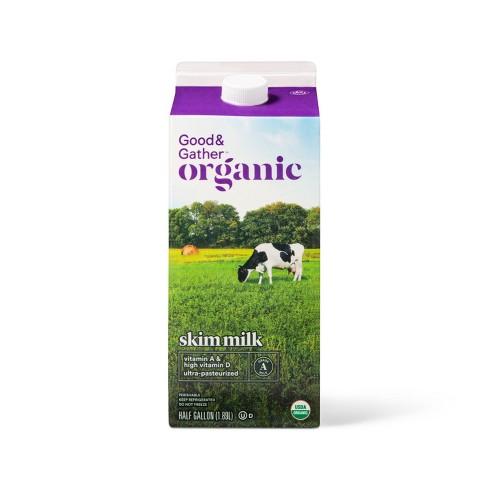 Organic Skim Milk - 0.5gal - Good & Gather™ - image 1 of 2
