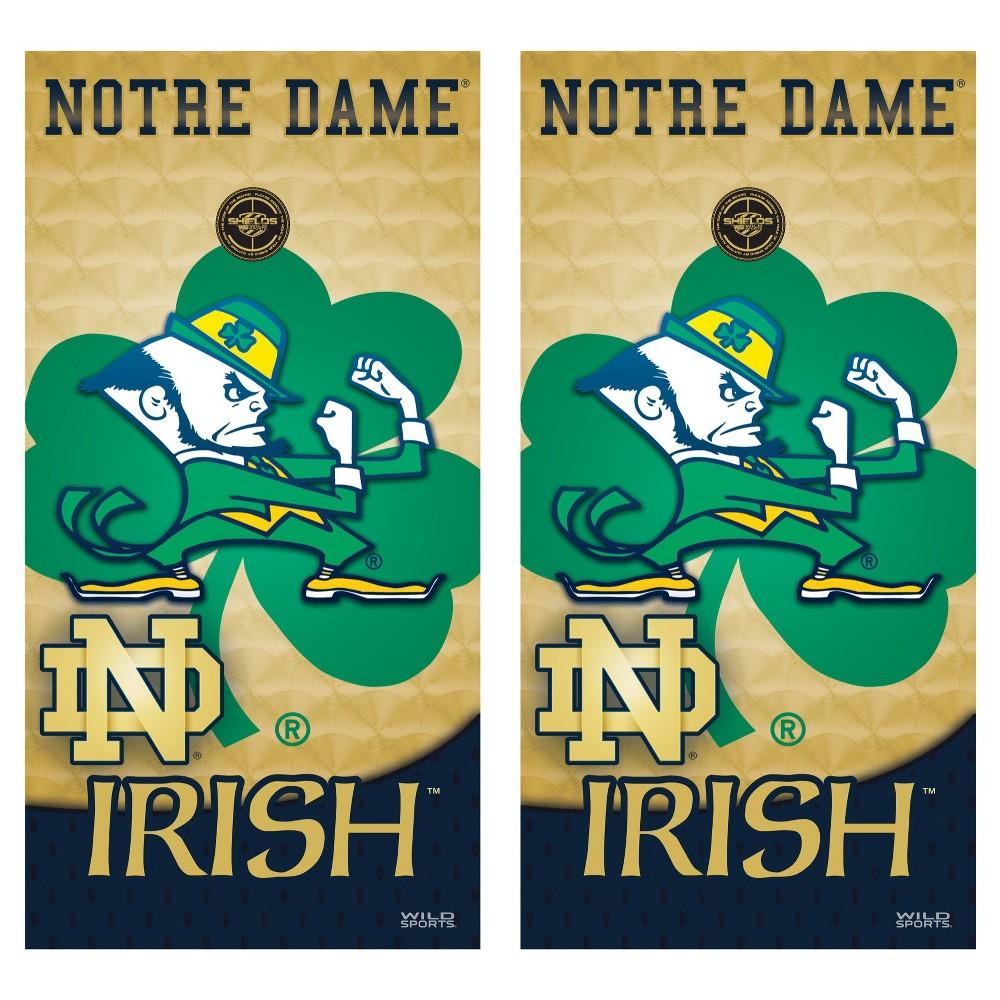Notre Dame Fighting Irish Wild Sports College Vinyl Cornhole Shield - 2 x 4 ft.