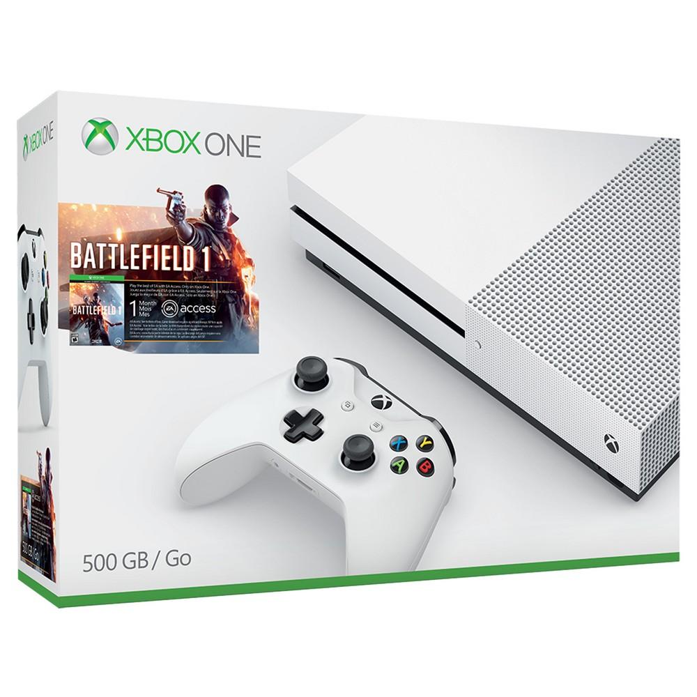 Xbox One S 500GB Battlefield 1 Bundle, White