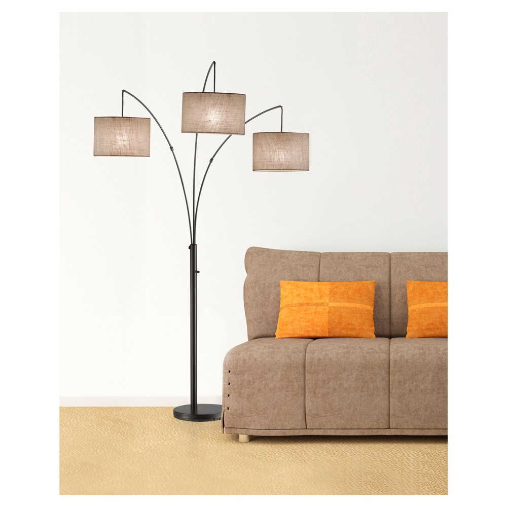 Image of Adesso Trinity Arc Lamp - Brown