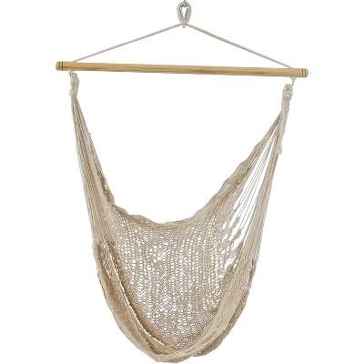Cotton/Nylon Large Mayan Hammock Chair - Natural - Sunnydaze Decor