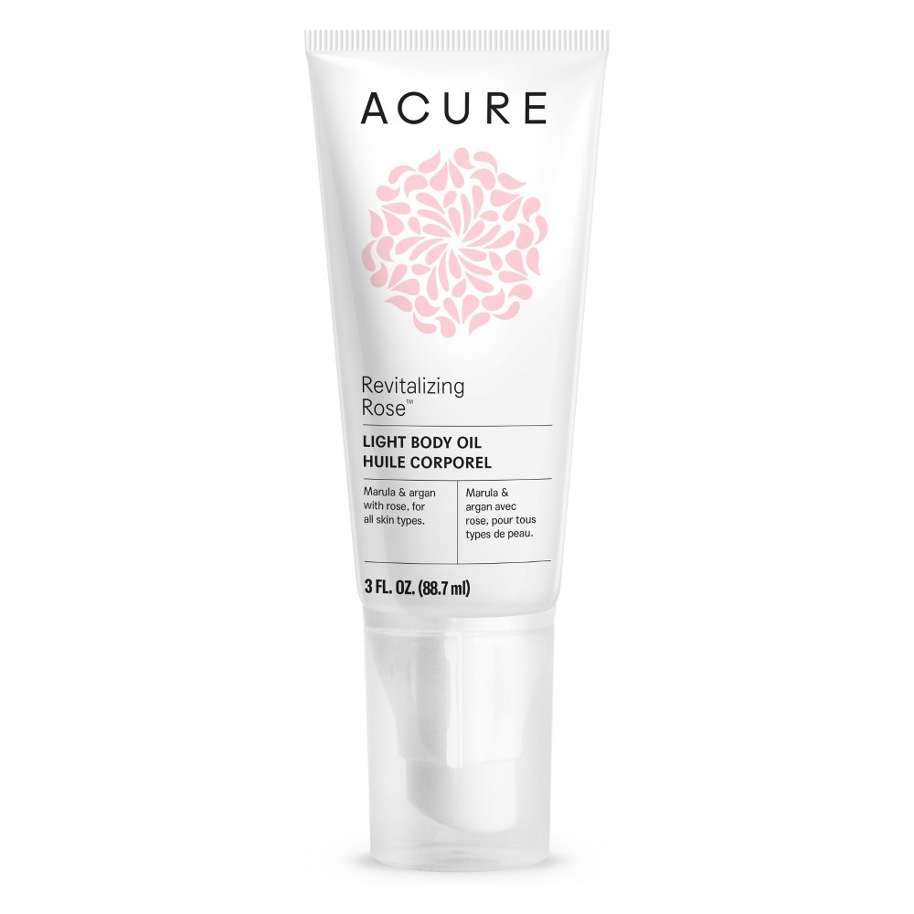 Acure Revitalizing Rose Light Body Oil - 3 fl oz