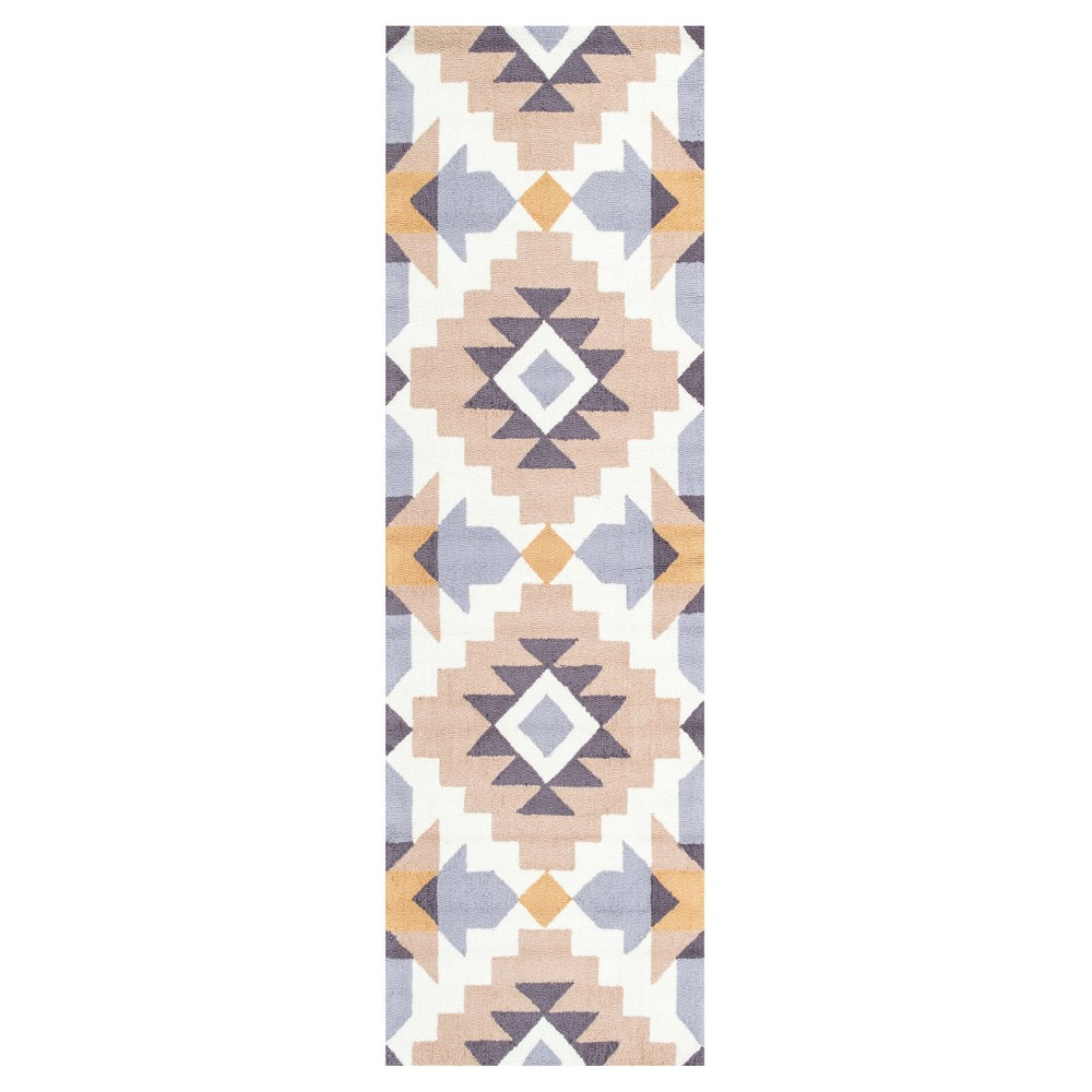 Yellow Solid Hooked Runner - (2'6x8') - nuLOOM