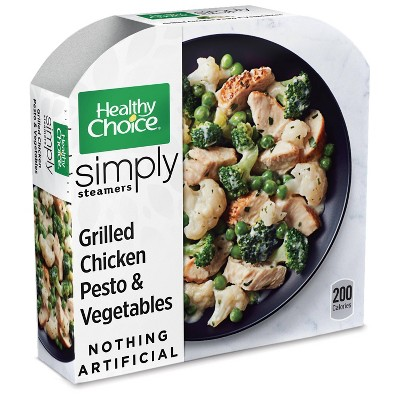 Healthy Choice Simply Steamers Grilled Frozen Chicken Pesto and Vegetables - 9.15oz