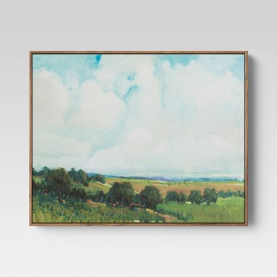 "30""x24"" Looming Clouds Framed Wall Canvas - Threshold™"