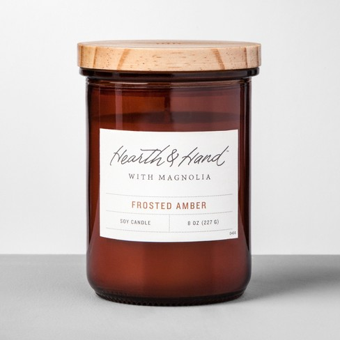 Container Candle Frosted Amber - Hearth & Hand™ with Magnolia - image 1 of 2