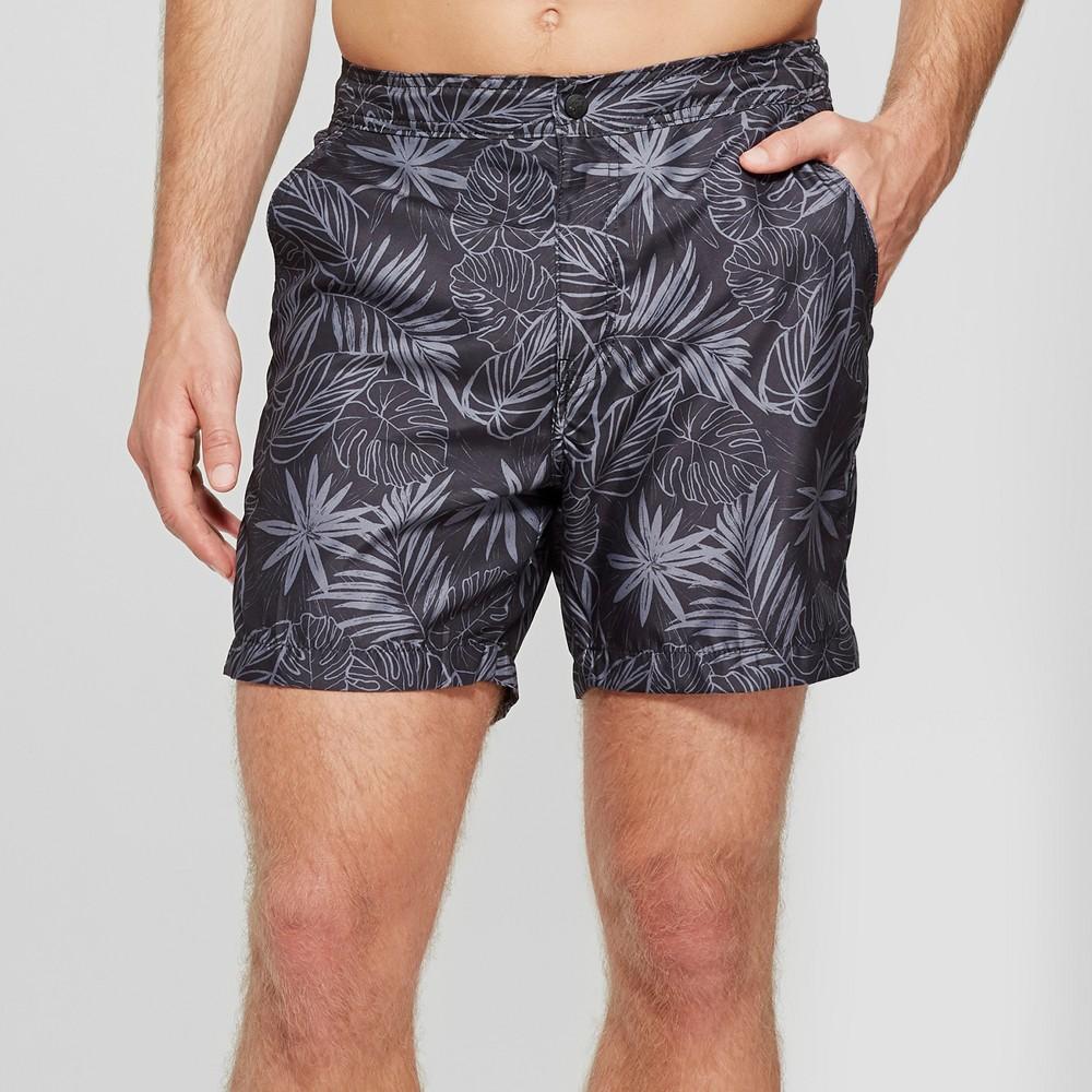 Men's 7 Trunks Surf & Swim Co Zack Shorts Swim Shorts - Black XL