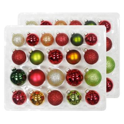 42ct Christmas Ornament Set Red/Green/White - Wondershop™