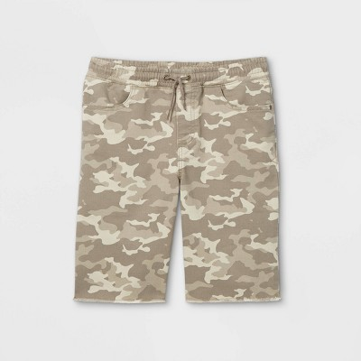 Boys' Camo Pull-On Shorts - art class™ Gray