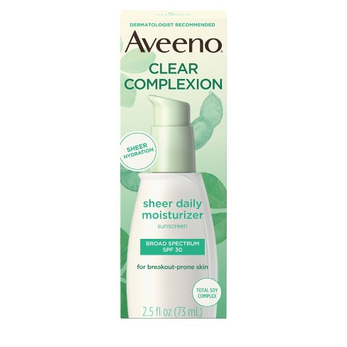 Aveeno Clear Complexion Sheer Daily Moisturizer - SPF 30 - 2.5 fl oz - image 1 of 4