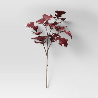"28"" Artificial Leaf Stem Purple - Threshold™"