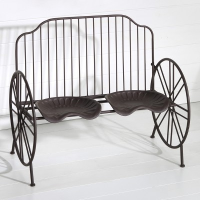 Lakeside Metal Tractor Seating - Rustic Farmhouse Outdoor Furniture – Outdoor Bench