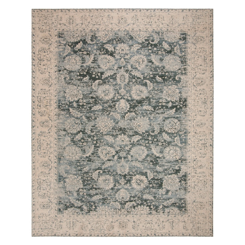 8'X10' Floral Loomed Area Rug Cream/Gray - Safavieh, Beige