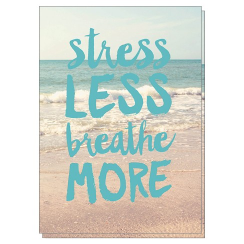 """Stress Less Breathe More"" Notecards - 10ct - image 1 of 1"