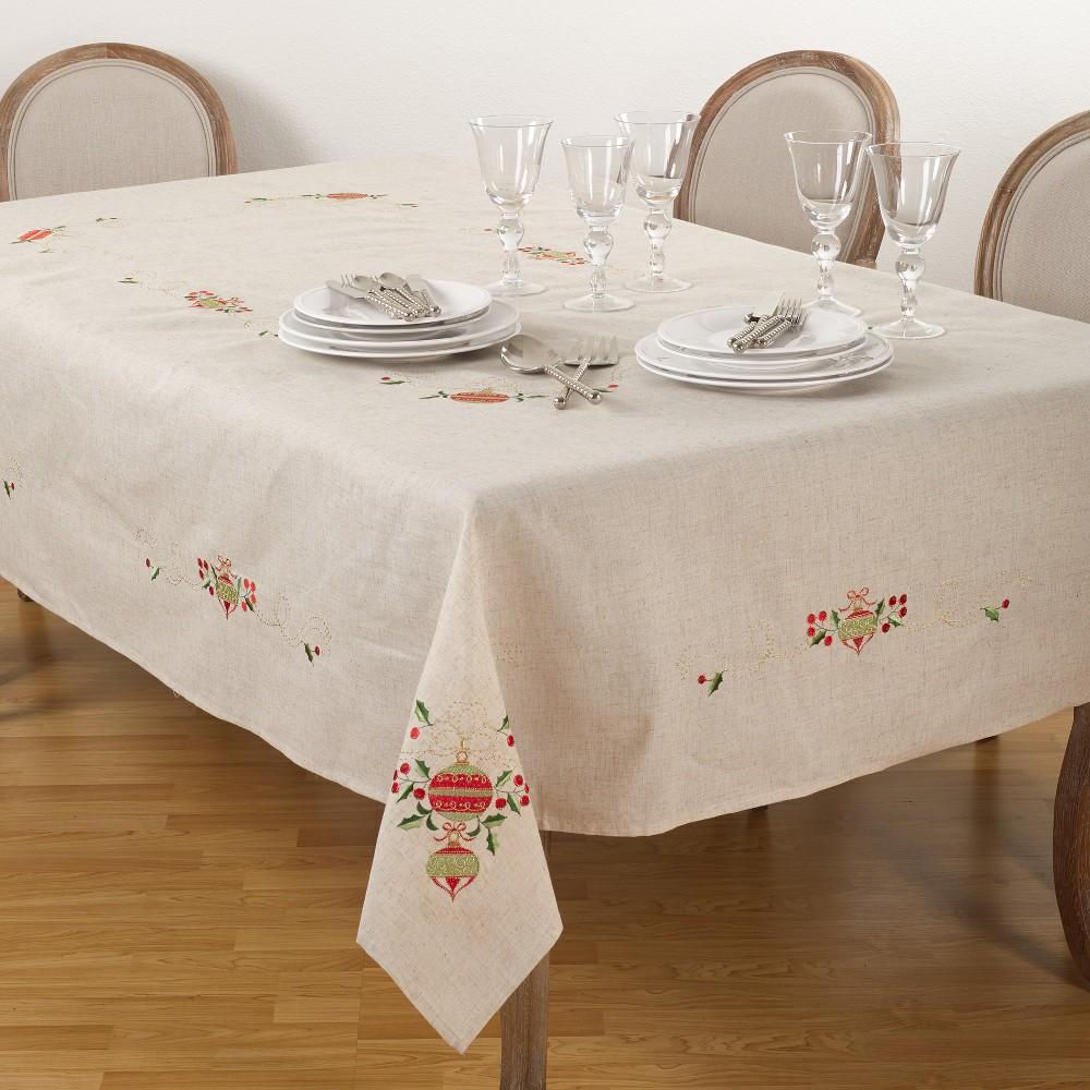 Tablecloth Medium Off-white (Beige) Saro Lifestyle