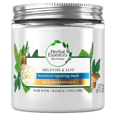 Herbal Essences bio:renew Argan Oil & Aloe Repairing Hair Mask for Dry Damaged Hair - 8 fl oz