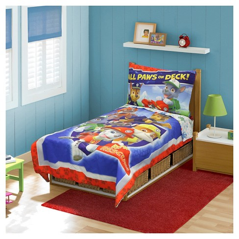 Paw Patrol 4pc Toddler All Paws on Deck! Bedding Set - image 1 of 1