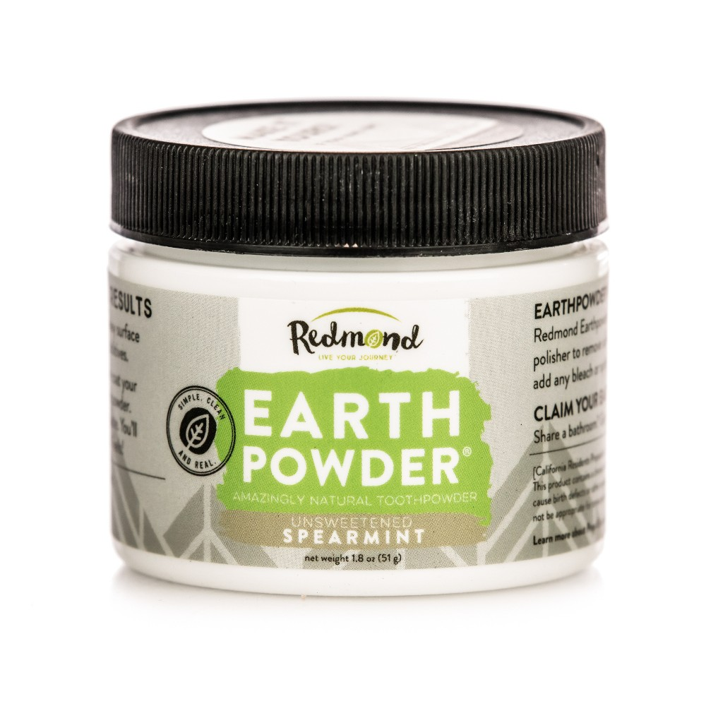Image of Redmond Earthpowder Spearmint Toothpowder - 1.8oz