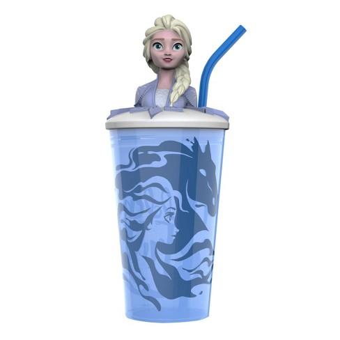 Frozen 2 Elsa 15oz Plastic Funtastic Tumbler with Straw Blue - Zak Designs - image 1 of 3
