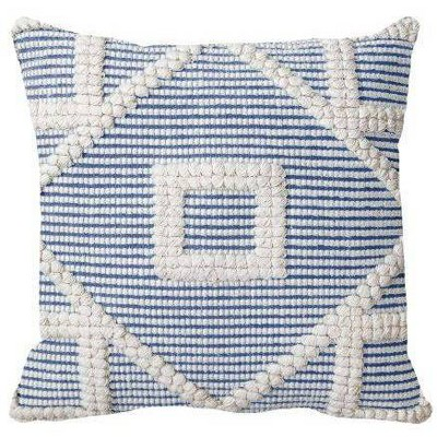 Square Diamond Pillow Blue/Cream - Opalhouse™