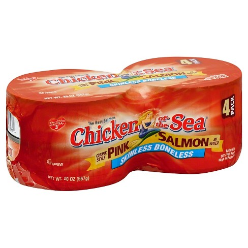 Chicken Of The Sea Chunk Style Pink Salmon In Water (20 oz) 4 Pk - image 1 of 1