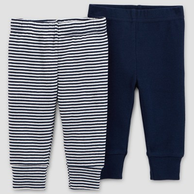 Baby Boys' 2pk Pants - Just One You® made by carter's Blue Newborn