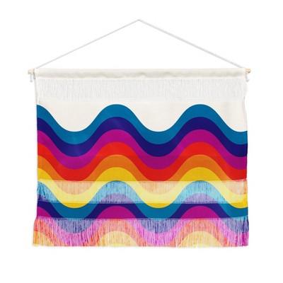 Showmemars Wavy Retro Rainbow Fiber Wall Hanging - Society6