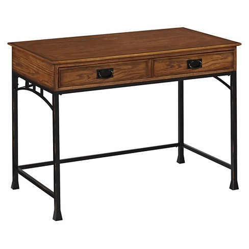 Modern Craftsman Student Desk Brown - Home Styles - image 1 of 3