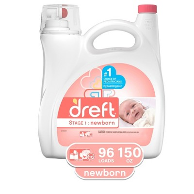 Dreft Stage 1: Newborn HEC Liquid Detergent - 150oz