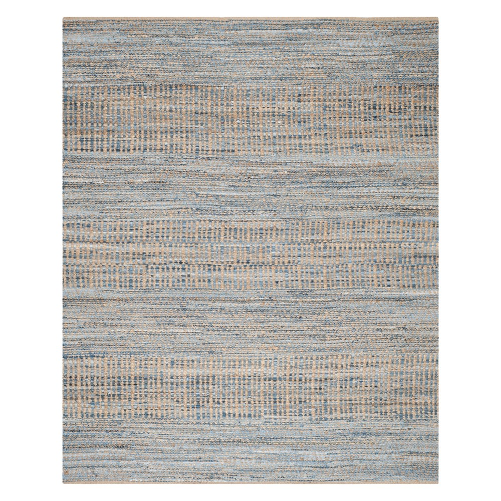 8'X10' Solid Area Rug Natural/Blue - Safavieh, White