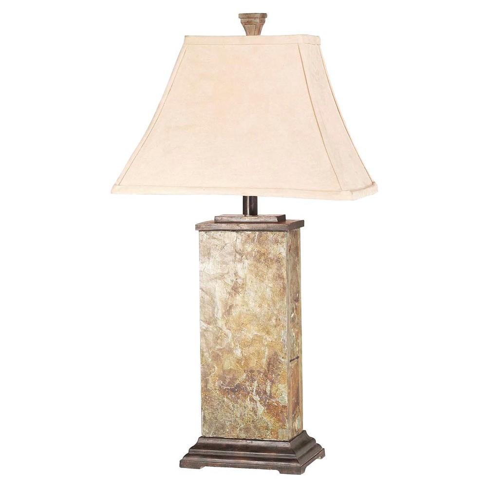 Image of Kenroy Home Bennington Table Lamp - Natural Slate